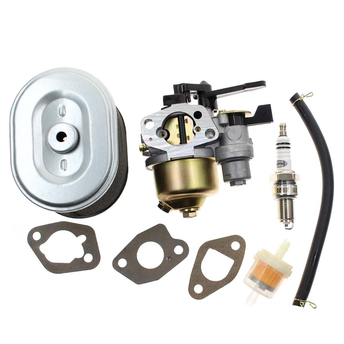Carburetor for Honda GX160 5.5HP GX200 6.5 HP Engine Harbor Freight Predator 212cc Homelite Pressure Washer 179CC 180cc DJ165F 2700PSI 2.3GPM UT80522D with Air Filter Spark Plug Fuel Filter