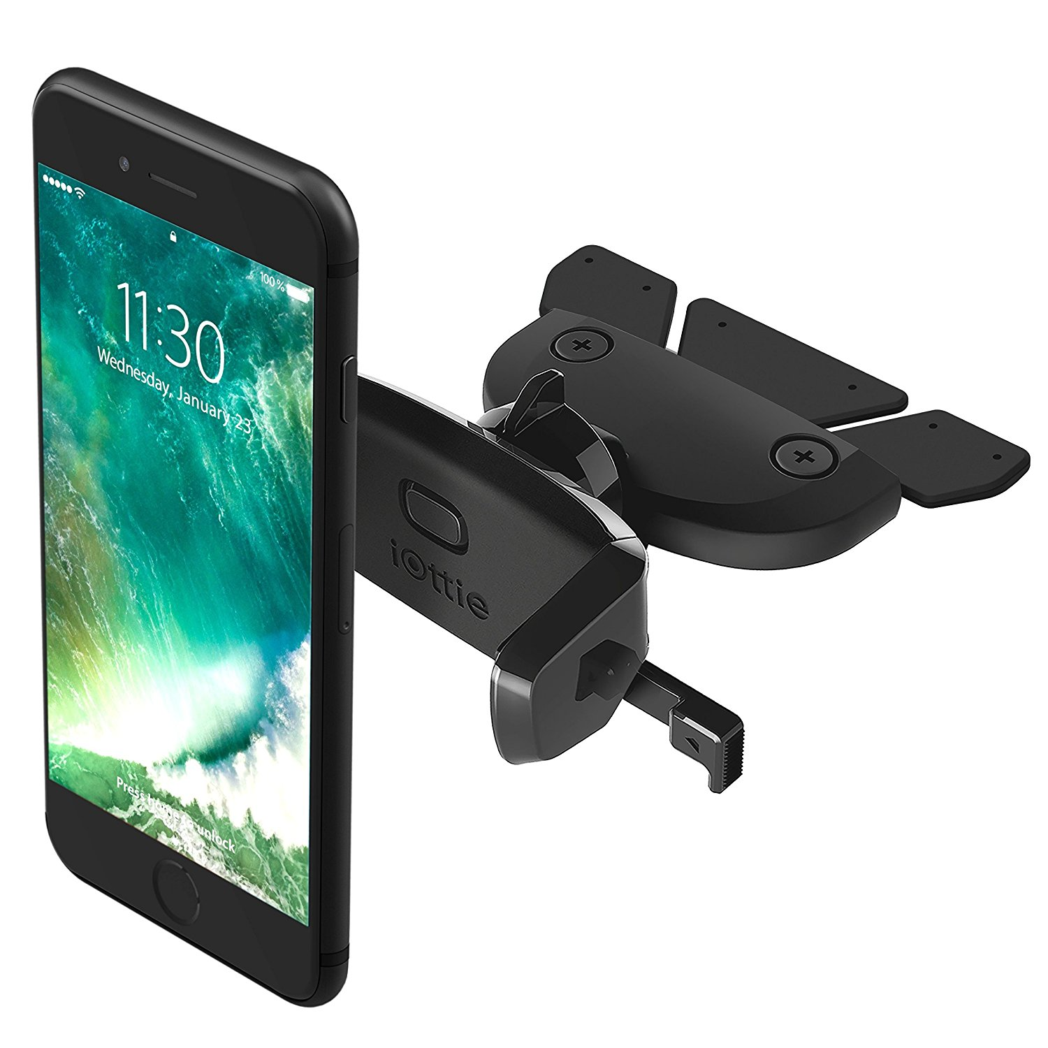 iOttie Easy One Touch Mini CD Slot Car Mount Holder Cradle for iPhone Galaxy Edge