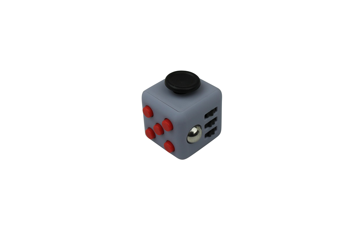 Fidget Cube Grey/Red