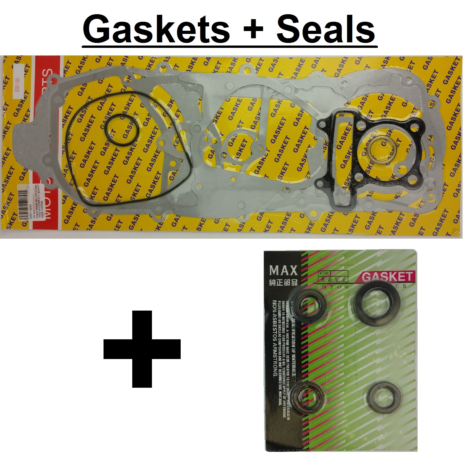 Engine Gasket Set, LONG-Case, 150cc SCOOTER ATV GOKART