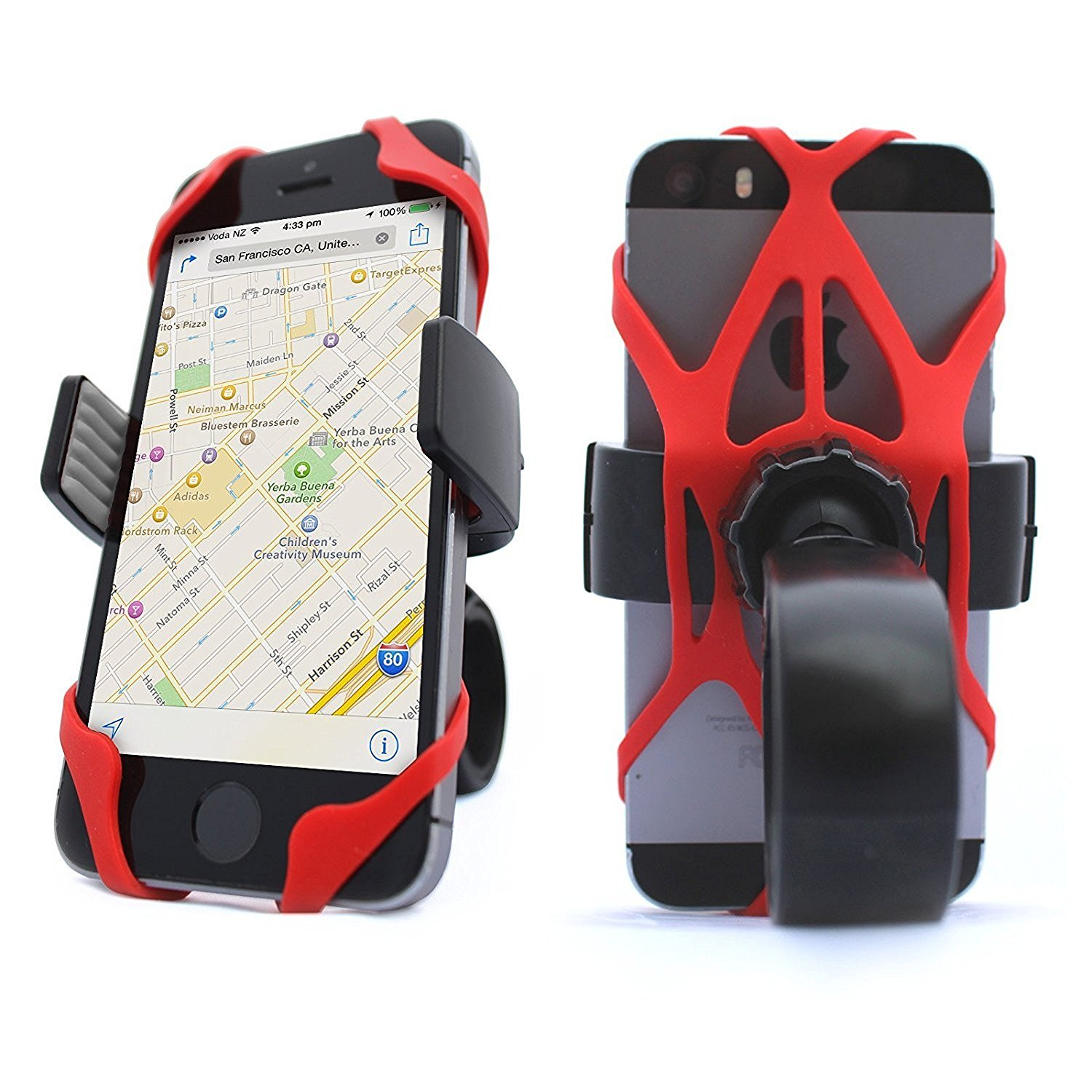 Universal Bike Motorcycle Phone Mount Holder Fits any Smart Cell Phone Bicycle