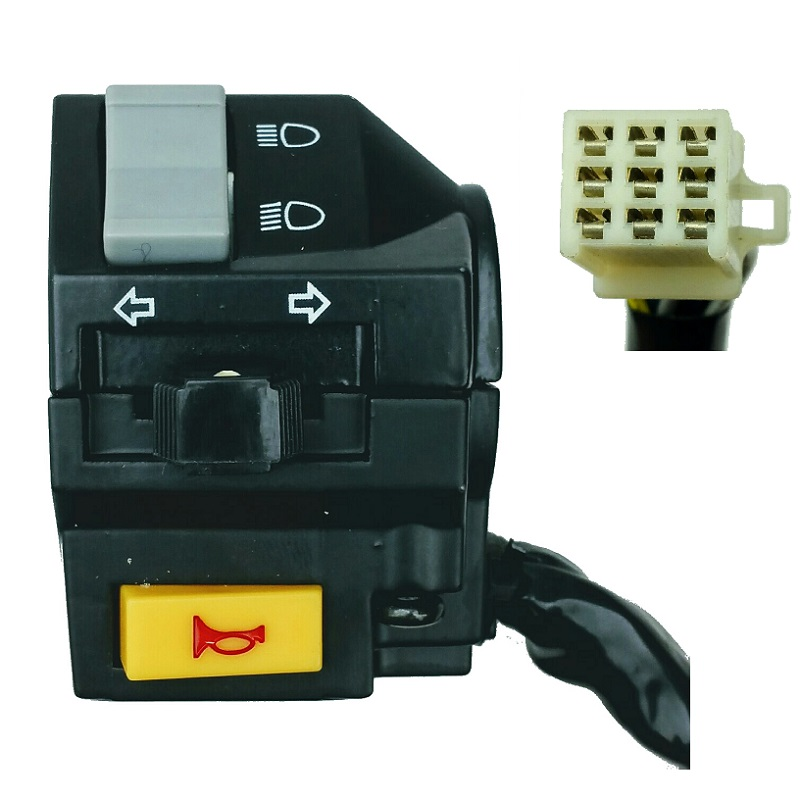 Left Handle Switch Control Horn HI/LO Headlight Turn Signal ATV GY6 50cc 125cc 150cc Scooters Chinese