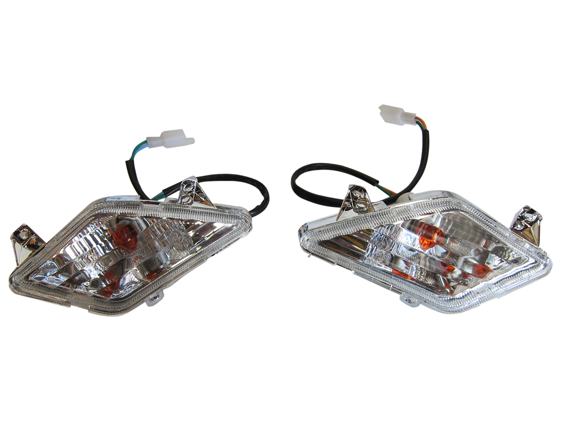 Left/Right Pair Turn Signal Tail Light GY6 Scooter Moped 2 Wire