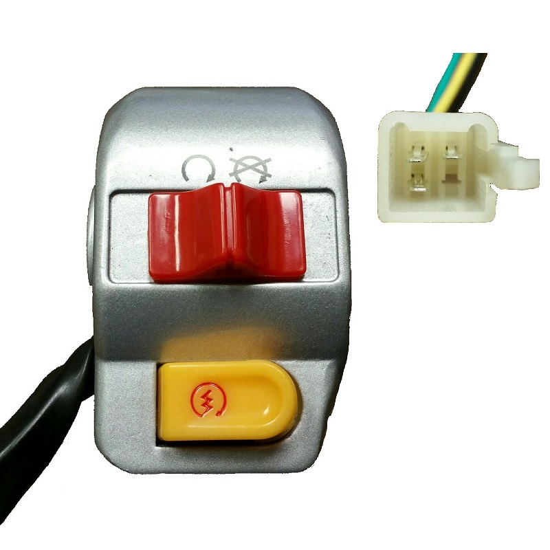 Right Handle Control Start Kill Switch 50cc 150cc Scooter GY6 Moped ATV Mirror