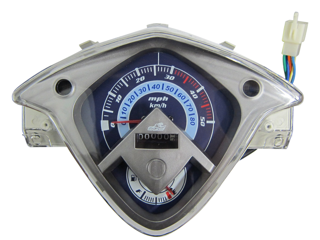 49cc 50cc SPEEDOMETER SPEEDO GAUGE CLUSTER CHINESE 50CC GAS SCOOTER MOPED GY6