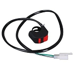 Motorcycle Handlebar 2 Wires Accident Hazard Light Switch Emergency Flameout Switch for ATV Scooter