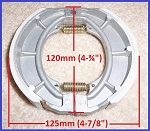 Brake shoes, Scooter 150cc/125cc