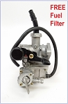 Carburetor, PZ19,Single Fuel Shut-Off, Manual Right Choke Switch
