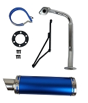 50cc High Flow Scooter Muffler/Exhaust - BLACK