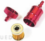 Fuel Filter, RED, CNC