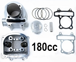 180cc Big Bore Head & Cylinder Kit, GY6