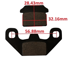 Brake Pads Pad Set 50cc-150cc 250cc ATV Rear Brakes 167