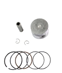 Piston & Ring Set, 110cc, 52mm