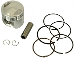 Piston & Ring Set, 61mm, 180cc GY6 Engines
