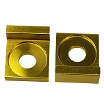 Chain Tensioner Adjuster CNC GOLD, 12mm L Block, Wheel,  Dirt Pit Bike 110cc 125cc