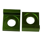 Chain Tensioner Adjuster CNC GREEN, 12mm L Block, Wheel,  Dirt Pit Bike 110cc 125cc