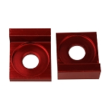 Chain Tensioner Adjuster CNC RED, 12mm L Block, Wheel,  Dirt Pit Bike 110cc 125cc