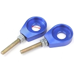 Chain adjuster CNC Aluminum Dirt Bike 12mm - BLUE