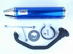 150 cc high flow scooter muffler/exhaust..- BLUE