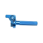 CNC Throttle Grip Assy - BLUE- Dirt bike Anodized Aluminum