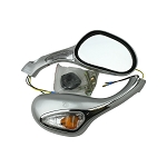 Mirror with Turn Signal light, Magnum 150RL-SILVER