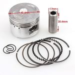 Piston & Ring Set - 100cc, wrist pin, Cirq clips