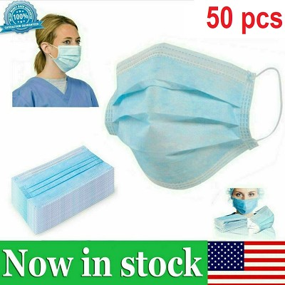 50pcs Disposable Earloop Face Mask Beauty Surgical Medical Dental